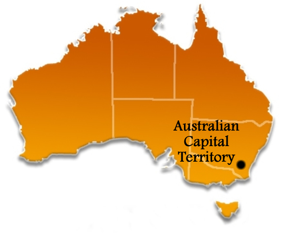 Australian Capital Territory Australia Towns Cities and Localities – Australia Map with States and Capital Cities