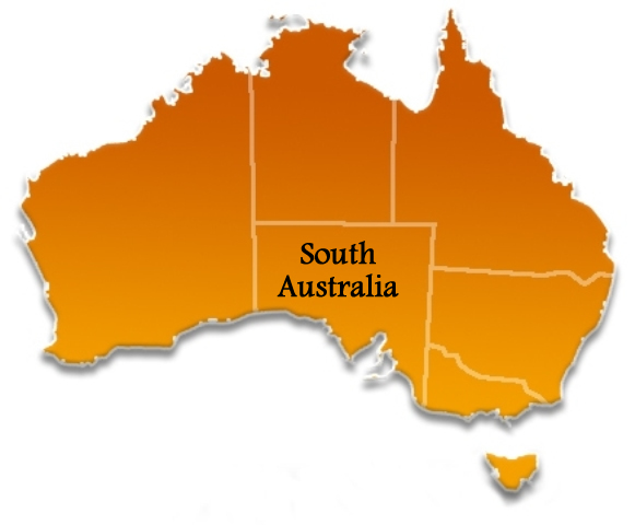 South Australia Location Map