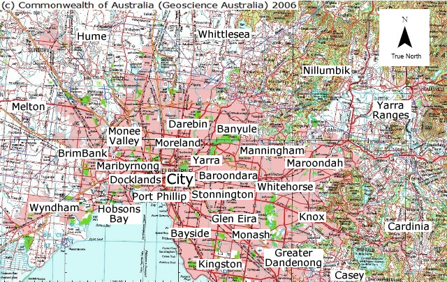 Greater Melbourne Map