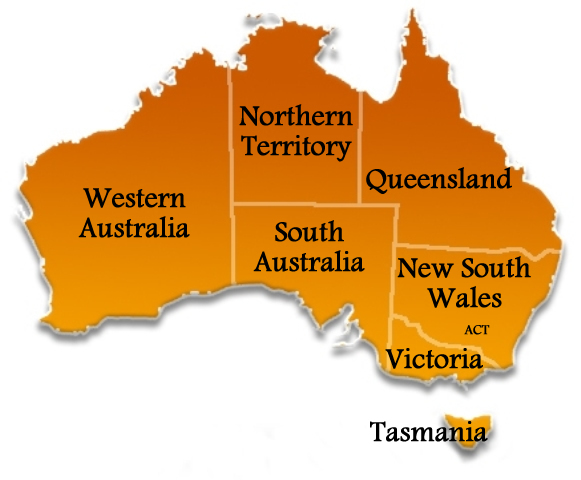 Map Of States Of Australia.Moving To Australia It S Big Where Are You Going To Live